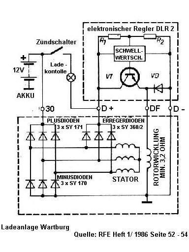 Drehstromlima mit elektonischem Regler