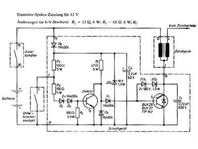 Elektrik, elektronische Zündanlage für die MZ TS 250